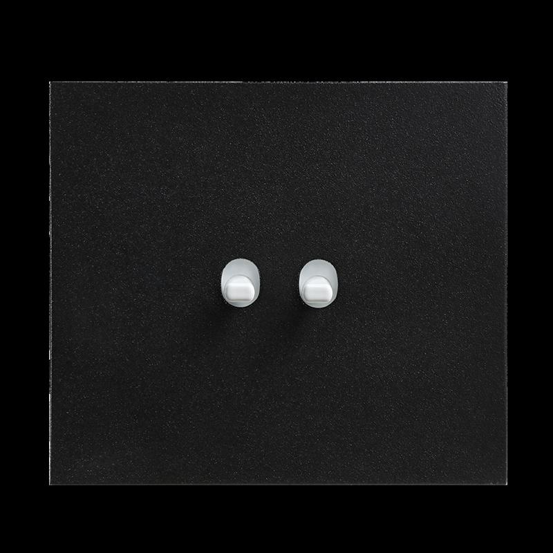 Vectis metallist must kahene lüliti valge nupuga