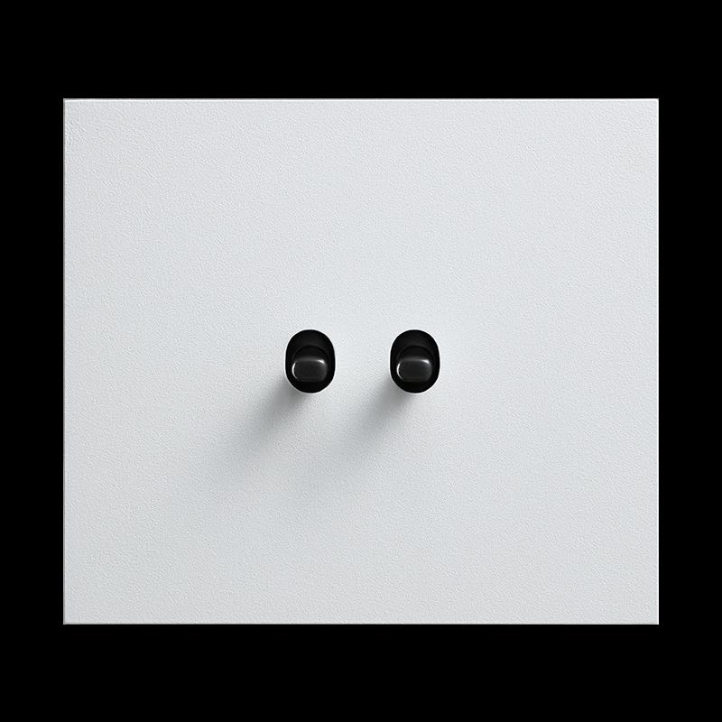 Vectis metallist valge kahene lüliti musta nupuga