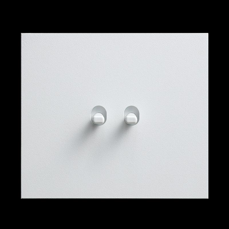 Vectis metallist valge kahene lüliti valge nupuga