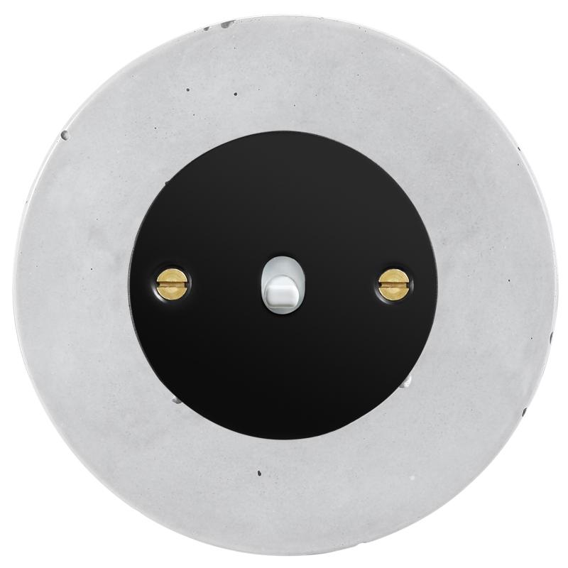 Retro betoonist kanglüliti must sisu valge nupp