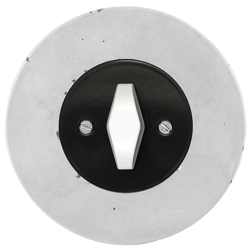 Retro betoonist keeratav lüliti must sisu valge bta nupp