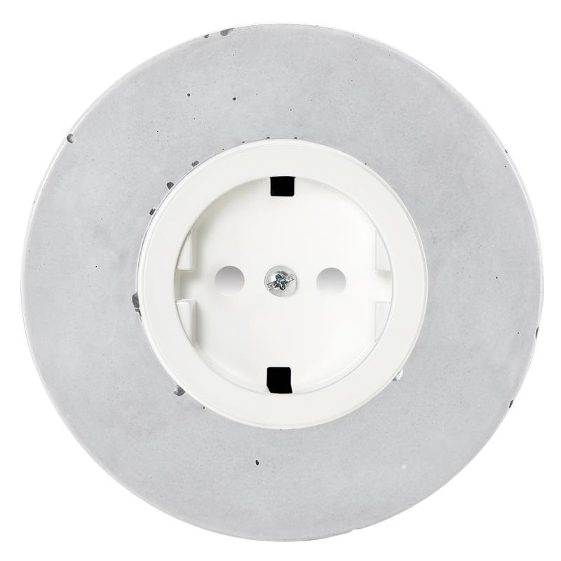 Retro betoonist pistikupesa süvistatav valge sisu