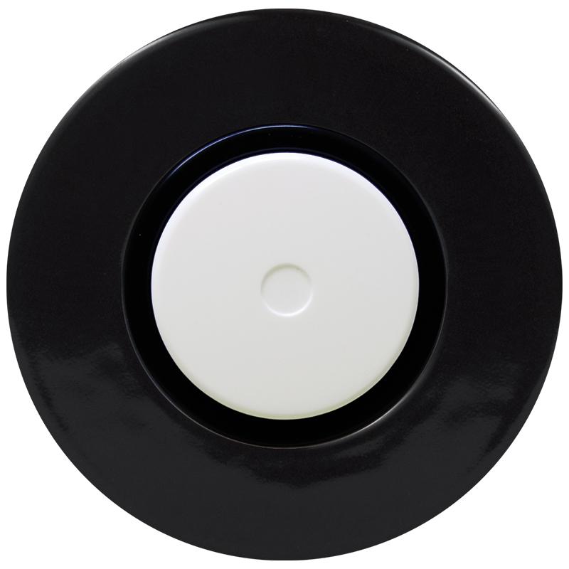 Retro keraamiline LED dimmer must lüliti valge nupuga must sisu