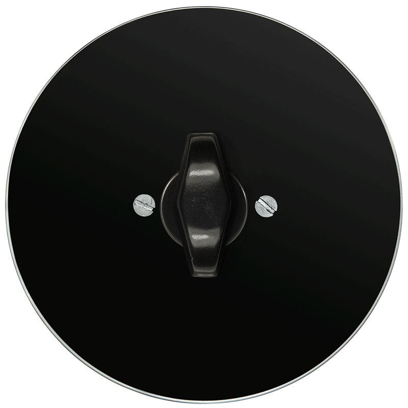Retro klaasist keeratav lüliti must klaas must BTA nupp