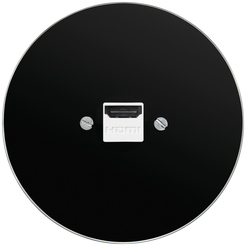 Retro klaasist must HDMI pesa must sisu